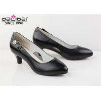 China Fine Thin Heel Dress Ladies Leather Shoes Pointed Toe Customize OEM / ODM on sale