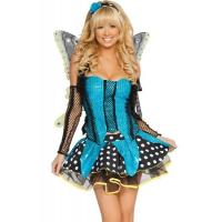 China Blue Garden Butterfly  Halloween Adult Costumes Customized For Carnival Dance wholesale