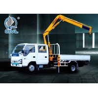 China Truck-mounted crane with telescopic boom 3 Ton Knuckle Boom Truck with Sinotruk HOWO Chassis wholesale
