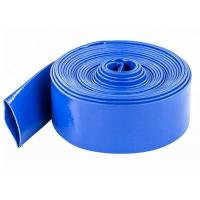 China 3 Inch PVC Blue Lay Flat Discharge Irrigation Hose For Agriculture Farming wholesale