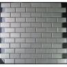 China 48x48mm Sliver Metal Mosaic Tiles Backsplash wholesale