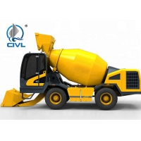 China 4 Cubic Meters Self Loading Concrete Mixing Equipment With New Condition Yellow Color wholesale