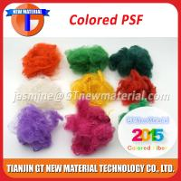 China Colored Recycled Polyester Staple Fiber, Dope Dyed RPSF for Nonwoven / Spinning 1.5D-15D on sale