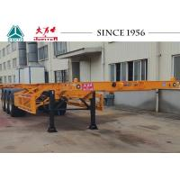 China 40 FT Tri Axles Skeletal Container Trailer With Superior Carrying Capacity on sale