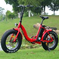 China Popular 20 Inch Folding Electric Bike Red Color Motor Power 48V 500W CE Approved wholesale