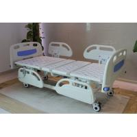 China Five Functions Electric Hospital Bed with PP side rails , Home Care Beds With Individual Locking Casters wholesale