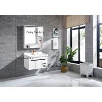 China High Gloss Outside White Bathroom Vanity , Home Custom Bathroom Vanities wholesale
