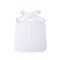 China Twill 2/1 Patch Pocket Polyester Cotton Chef White Half Apron on sale