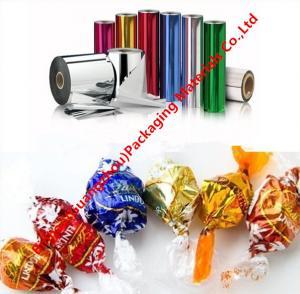 China Película de la torsión del PVC de Gleamy de la resistencia de humedad, películas del abrigo de la torsión del embalaje del regalo del caramelo wholesale