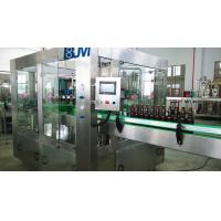 China Fully Automatic Beer Glass Bottle Filling Machine / Glass Bottle Packing Machine wholesale