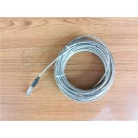 China 5.2mm 7x19 Galvanized Steel Wire Rope Cable With Thimble Bright Coating wholesale