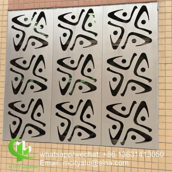 Quality Hollow  2.5mm Decorative Perforated Aluminum Sheet Metal  Window Decoration for sale
