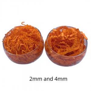 10g / Bag No Smell Glitter Orange Recycled Shredded Paper Crinkle Paper