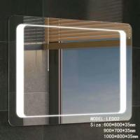 China Stainless Frame Hotel Led Bathroom Mirror With Radio , light up magnifying mirror wholesale