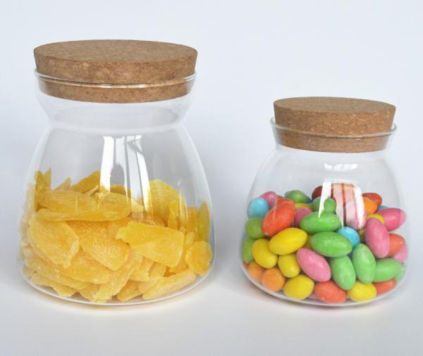 Quality custom-made tea pot seal mini tea cup glass sealed with cork 250-600ml for sale
