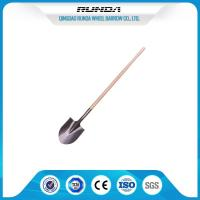 Quality Farming Flat Spade Shovel / Head Shovel Hardwood Handle Railway Steel Material for sale