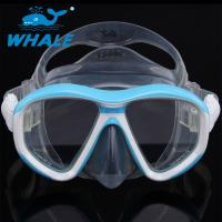 China Anti - Fogging Silicone Diving Mask Tempered Glass Clear View Scuba Diving Mask wholesale