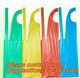 China Wholesale Cheap PE Apron restaurant kitchen for adults colorful Disposable plastic apron, BIODEGRADABLE COMPOSTABLE CORN wholesale