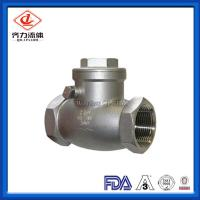 China 304 SS Swing Female Check Valve High Polished Durable Corrosion Resistant wholesale