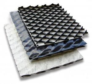 China HDPE Polyethylene 3D Geocomposite Drainage Net Nonwoven Geotextile wholesale