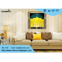 China Eco - friendly Vinyl Stripes Modern Removable Wallpaper for Living Room wholesale