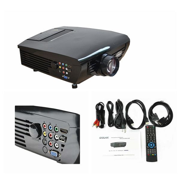 Quality DG-747 HD ready home theater Video game DVD movie LED projector for education and business for sale