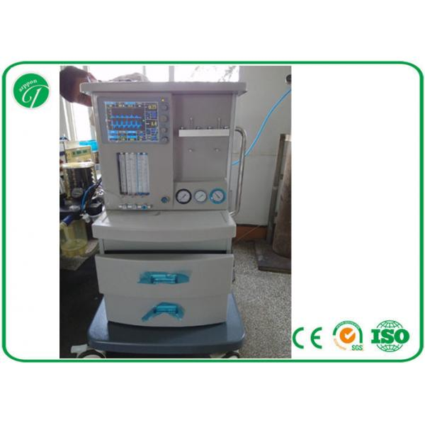 Quality 5 Tubes Flow Meter Mobile Anesthesia Machine , Anesthesia Gas Machine Oxygen Probe for sale
