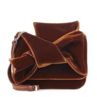 China New Design Velvet Shoulder Bag For Women Small Crossbody Bag with exaggerate Bow in Black and Brown color Chain Handbags wholesale