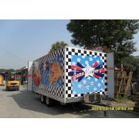 China Fashionable Mobile Kitchen Trailer Hire Catering VanWith Custom Poster Board on sale
