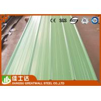 China Pre Painted Zinc Metal Corrugated Roofing Sheets Waterproof 0.23 - 1.2mm Thickness wholesale