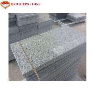 China Indoor Decoration Flamed Granite Stone Slabs , Crystal White Granite G603 Slab on sale
