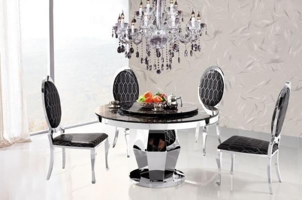 contemporary marble round dining table with chair dining set fac