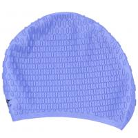 China Light Blue Long Hair Swim Caps With Premium 100% Silicone Materials , Long Lasting wholesale