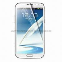 China Transparent Screen Protector for Samsung Galaxy Note II N7100, with Anti-scratch Clear PET Material wholesale