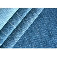 China Vintage Women / Mens Knit Denim Fabric , Gament Pants Light Blue Denim Fabric on sale