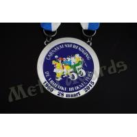 Compact Custom Made Coins Medallions , National Service Medal Circle Shape