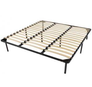 China Platform Foundation Metal Slatted Bed Base , Metal Bed Frame With Slats on sale