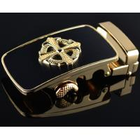 China Classic popular men's elegant black and gold belt buckle wholesale on sale