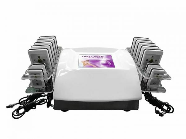 Quality 650nm Portable Lipolaser System / 350W Body Slimming Machine With 14 Pads for sale