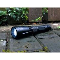 China Self Defense Rechargeable LED Flashlight IPX7 Military Grade Black Color wholesale