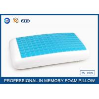 China Traditional Blue PU Memory Foam Cooling Gel Pillow , Memory Foam Decorative Pillow wholesale