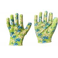 China Petro Chemical Garden Work Gloves , Oil Proof Nitrile Garden Gloves wholesale