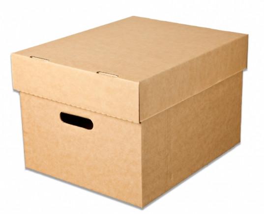 Quality High Density Storage Boxes Cardboard With Duplex Grey / Kraft Paper for sale