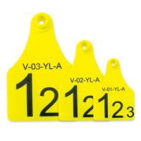 China Mini / Middle / Large Size RFID Visual Tag Laser Printing Support Yellow Or Other wholesale