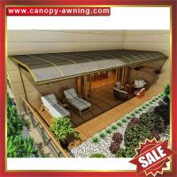 China super durable terrace balcony patio polycarbonate alu metal canopy awning shelter canopies visor cover for house villa on sale