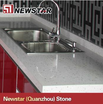 Quality Newstar prefab quartz countertops with kitchen sink for sale