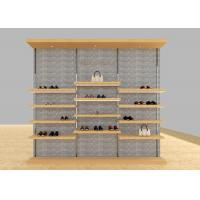 Casual Shoe Shop Display Stands , Modern Footwear Display Shelves For Decoration