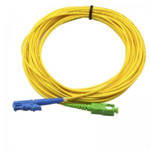 Buy cheap Single Mode APC Patch Cord E2000 SX SM LSZH , SC UPC Simplex Fiber Optic Cable from wholesalers