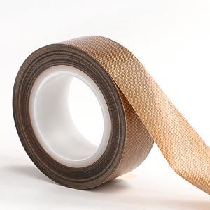China Heat Temperature Resistant Teflon PTFE Fiberglass Adhesive Tape for Heat Sealing Packing wholesale