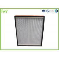 China Disposable Terminal HEPA Air Filter Cleanroom Ceiling Mounted Easy Installed on sale